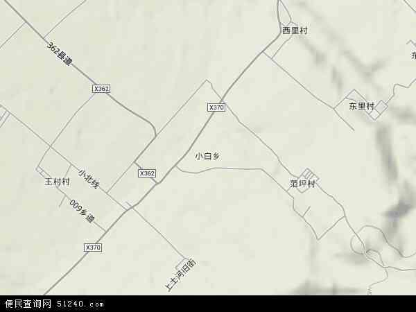 中国山西省晋中市太谷县小白乡地图(卫星地图)