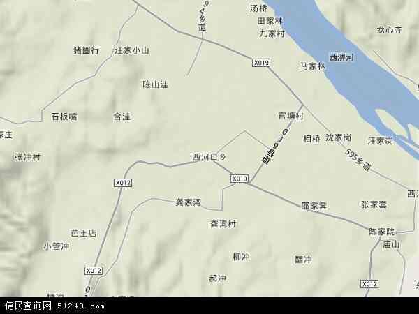 西河口乡地图 - 西河口乡卫星地图图片
