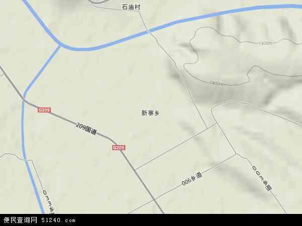中国山西省忻州市五寨县新寨乡地图(卫星地图)