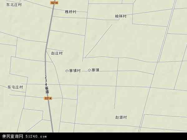 中国河北省邯郸市鸡泽县小寨镇地图(卫星地图)