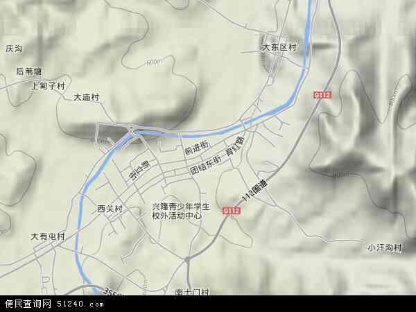 中国河北省承德市兴隆县兴隆镇地图(卫星地图)