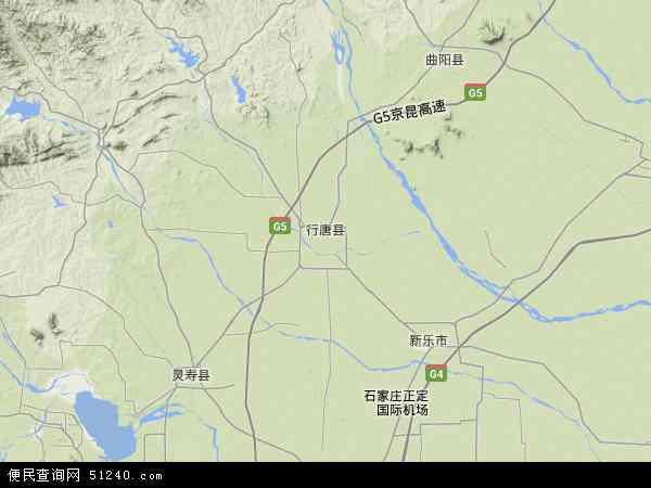 中国河北省石家庄市行唐县地图(卫星地图)