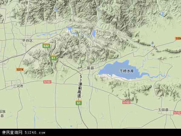 中国天津市蓟县许家台镇地图(卫星地图)