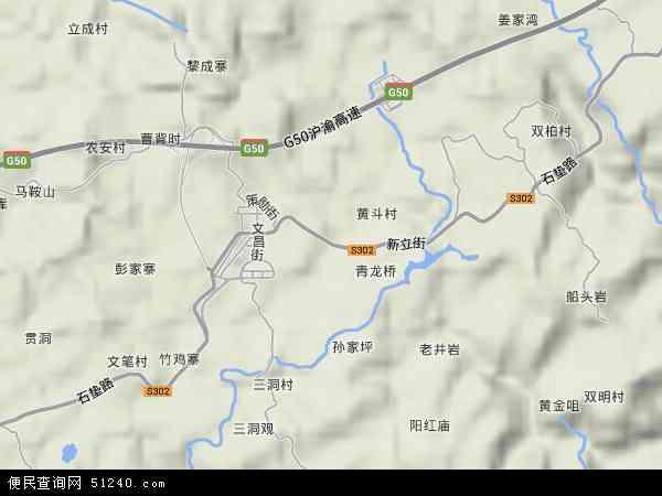 中国重庆市忠县新立镇地图(卫星地图)