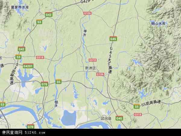 湖北武汉新洲区地图_新洲区地图 - 新洲区卫星地图 - 新洲区高清航拍地图