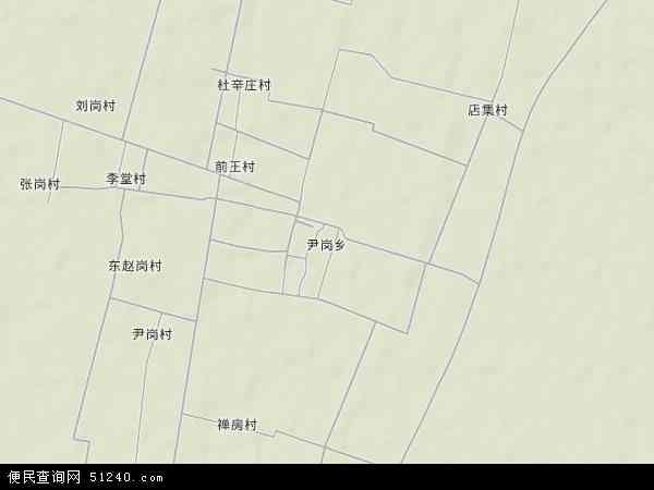 中国河南省新乡市封丘县尹岗乡地图(卫星地图)
