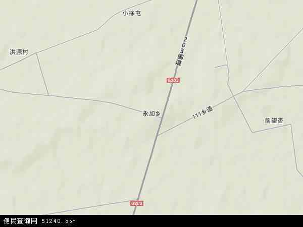 中国吉林省四平市双辽市永加乡地图(卫星地图)