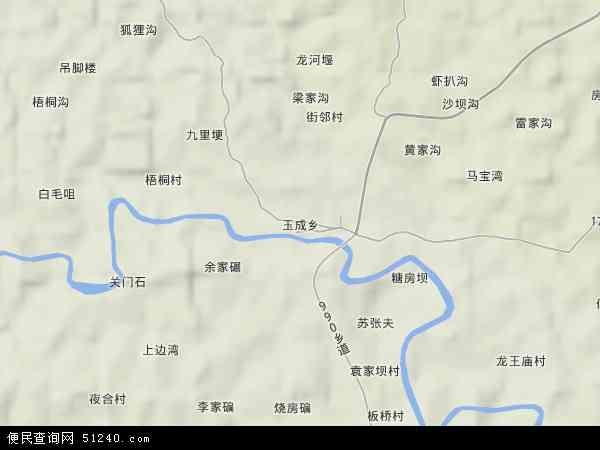 玉成乡地图 - 玉成乡卫星地图 - 玉成乡高清航拍地图