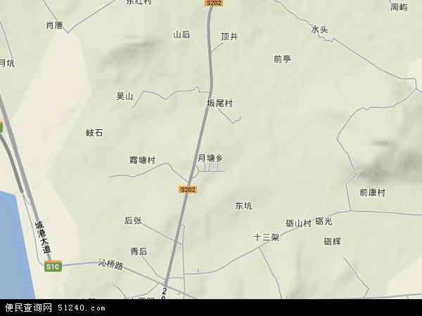 中国福建省莆田市秀屿区月塘乡地图(卫星地图)