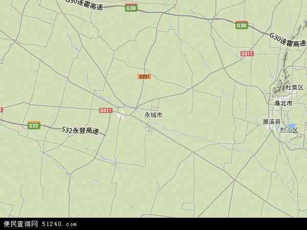 永城市地图 - 永城市卫星地图