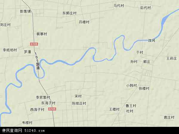 中国山东省济宁市汶上县杨店镇地图(卫星地图)