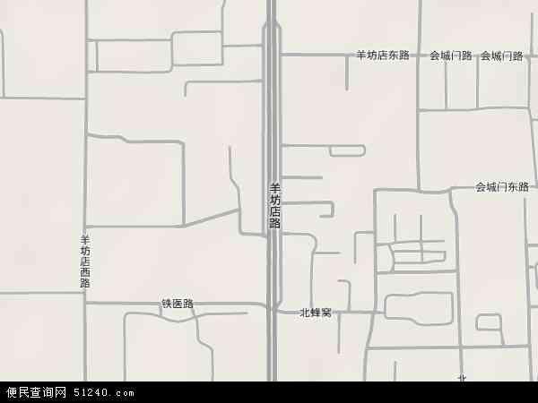 中国北京市海淀区羊坊店地图(卫星地图)