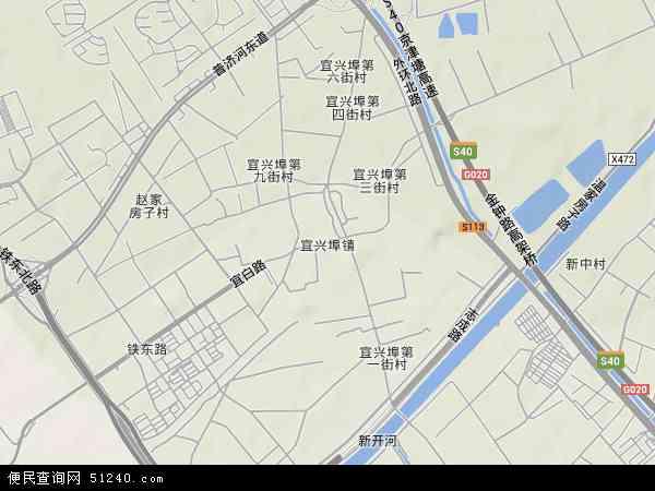 宜兴埠镇卫星影像,宜兴埠镇高清卫星航拍地图