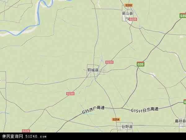 中国山东省菏泽市郓城县地图(卫星地图)