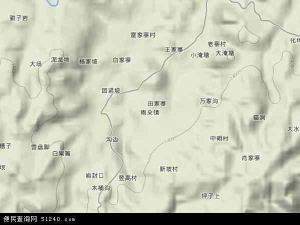 中国贵州省毕节市黔西县雨朵镇地图(卫星地图)