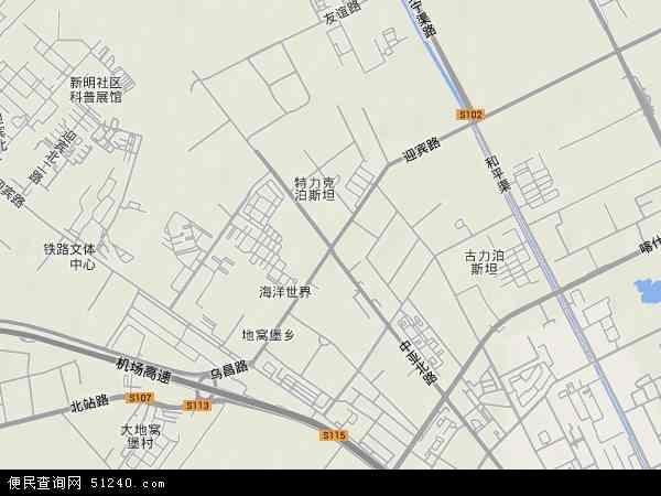 迎宾路地图 - 迎宾路卫星地图
