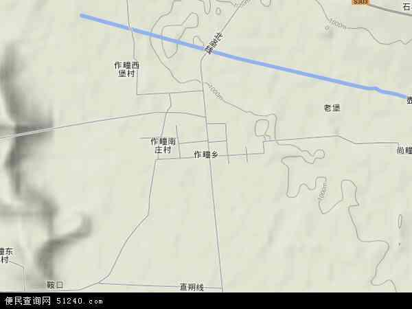 中国山西省大同市广灵县作疃乡地图(卫星地图)图片