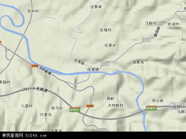 张滩镇高清卫星地图 张滩镇2018年卫星地图 中国陕西省安康市汉滨