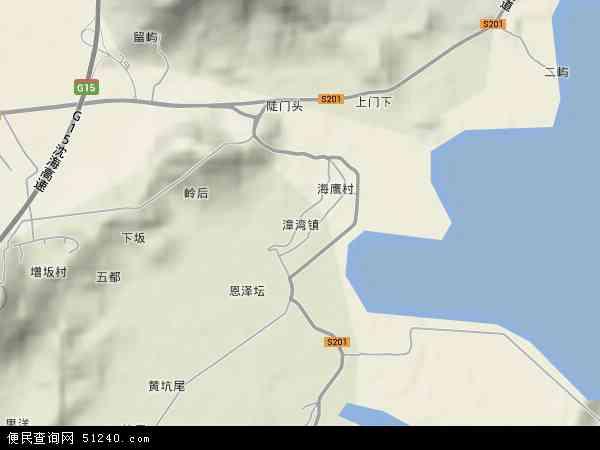 中国福建省宁德市蕉城区漳湾镇地图(卫星地图)