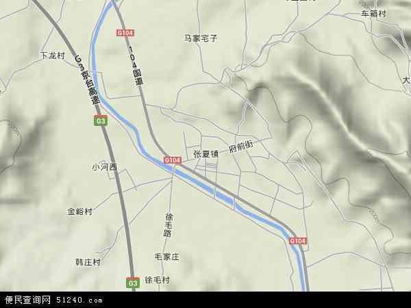 张夏镇地图 - 张夏镇卫星地图