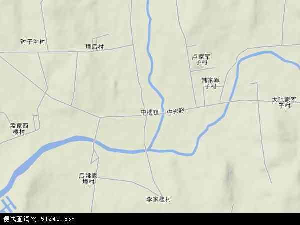 中国山东省日照市莒县中楼镇地图(卫星地图)