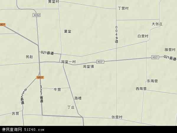 中国河南省商丘市睢县周堂镇地图(卫星地图)
