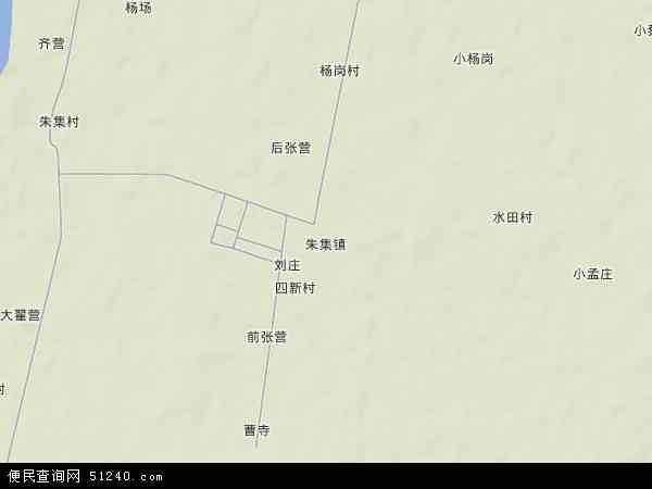 中国湖北省襄阳市襄州区朱集镇地图(卫星地图)
