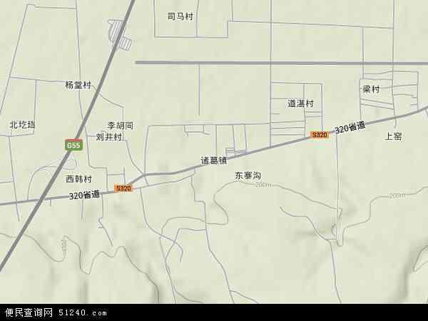 中国河南省洛阳市洛龙区诸葛镇地图(卫星地图)图片