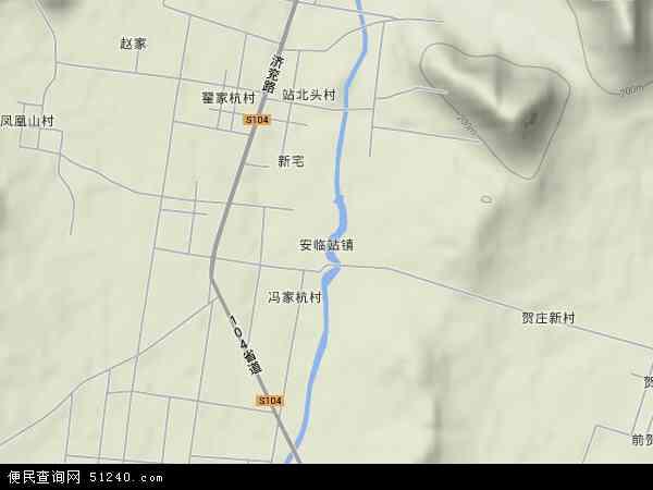 中国山东省泰安市肥城市安临站镇地图(卫星地图)