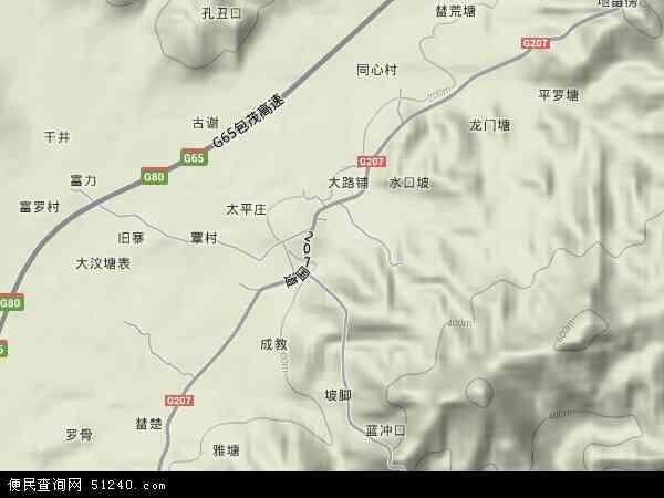 中国广西壮族自治区梧州市岑溪市安平镇地图(卫星地图)