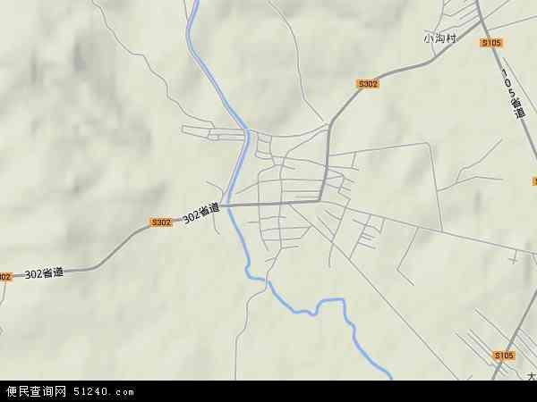 中国辽宁省沈阳市法库县柏家沟镇地图(卫星地图)