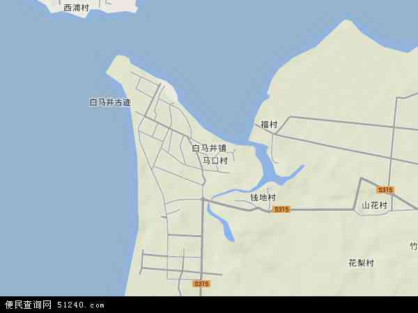 中国海南省省直辖县级行政区划儋州市白马井镇地图(卫星地图)