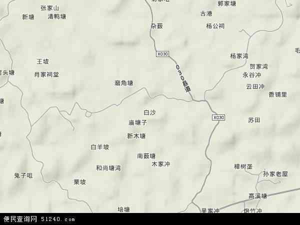 白沙镇地图 - 白沙镇卫星地图