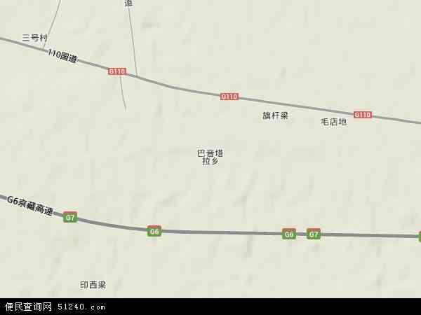 巴音塔拉镇地图 - 巴音塔拉镇卫星地图