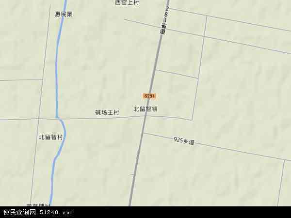 中国河北省衡水市景县北留智镇地图(卫星地图)