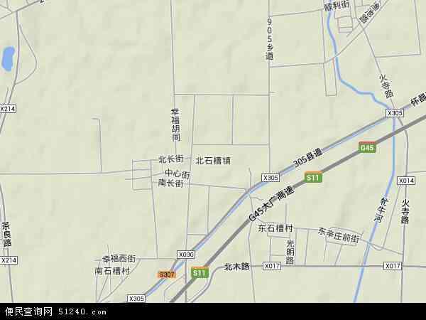 中国北京市顺义区北石槽镇地图(卫星地图)