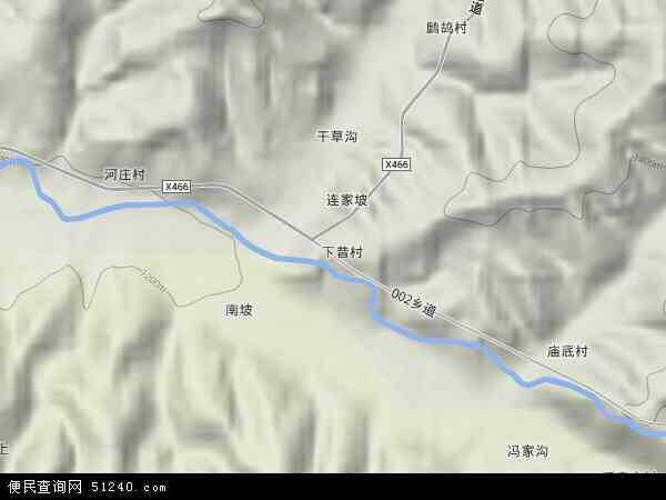 中国山西省吕梁市方山县北武当镇地图(卫星地图)