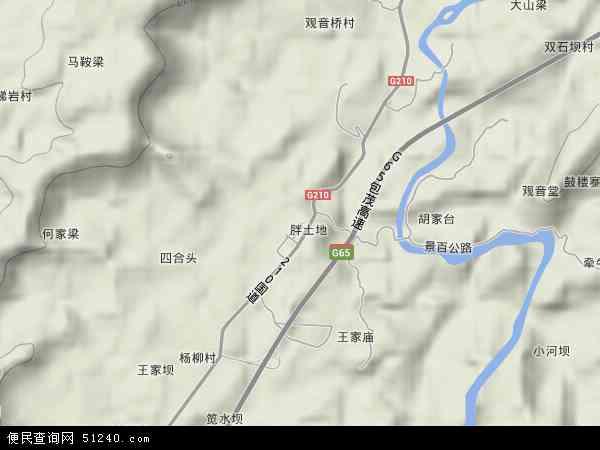 百节镇2018年卫星地图 中国四川省达州市达川区百节镇地图
