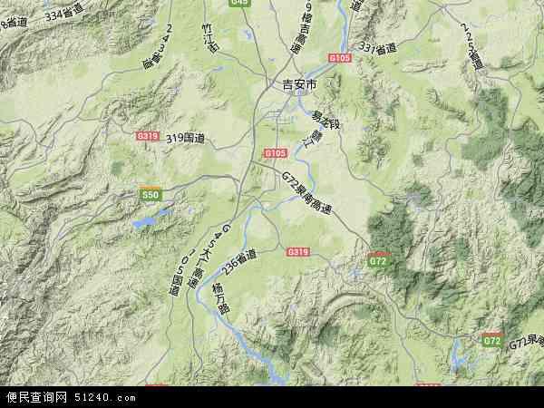 八一八矿区地形地图