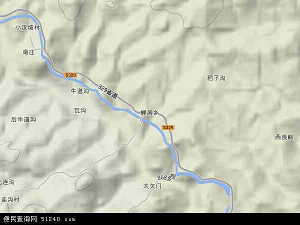 中国河北省邢台市沙河市蝉房乡地图(卫星地图)