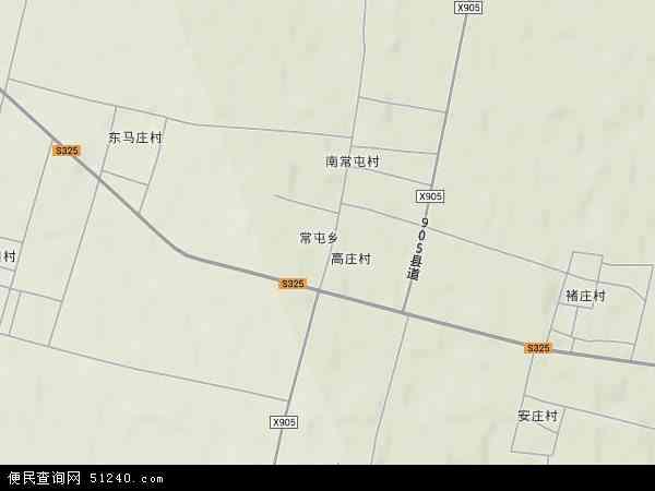 中国河北省邢台市威县常屯乡地图(卫星地图)