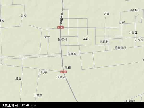中国河南省信阳市息县陈棚乡地图(卫星地图)