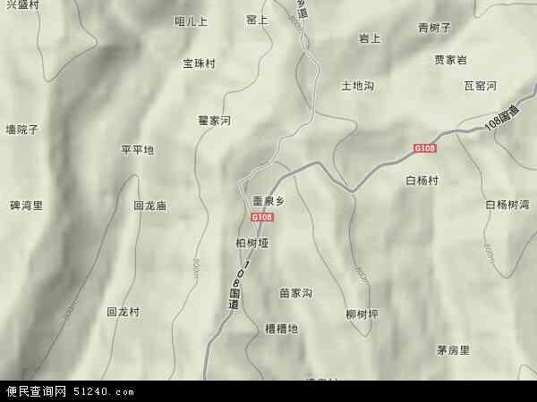 垂泉乡地形地图
