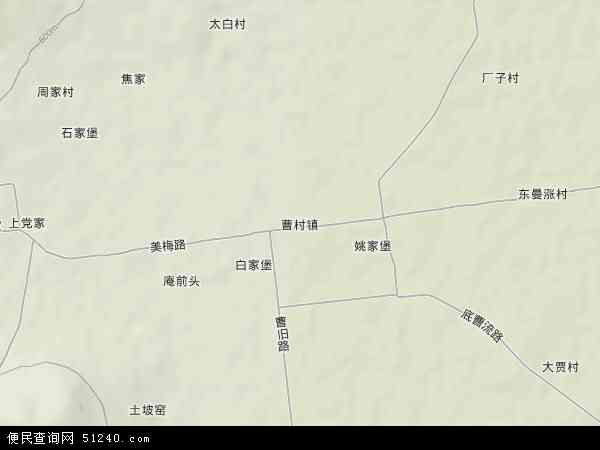中国陕西省渭南市富平县曹村镇地图(卫星地图)图片