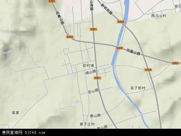 初村镇2018年卫星地图 中国山东省威海市环翠区初村镇地图