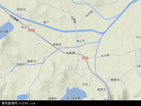 中国辽宁省大连市庄河市长岭镇地图(卫星地图)