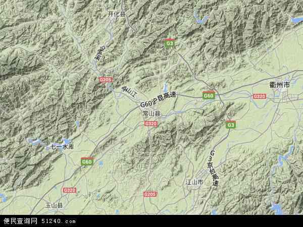 常山县地图 - 常山县卫星地图