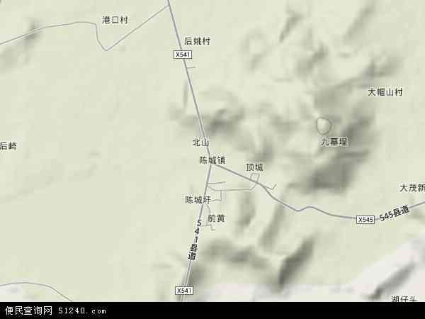 中国福建省漳州市东山县陈城镇地图(卫星地图)