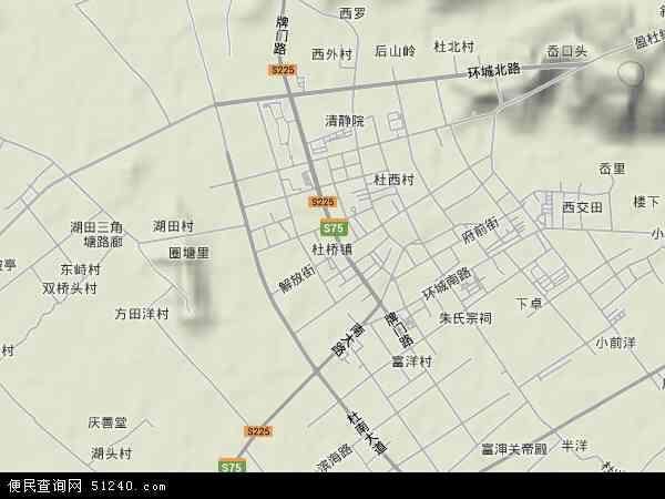 中国浙江省台州市临海市杜桥镇地图(卫星地图)