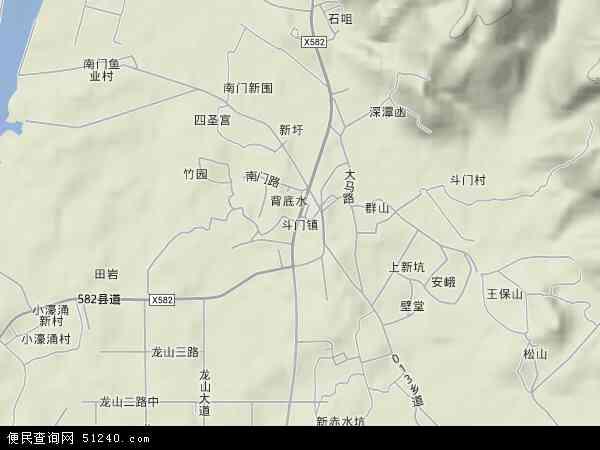 斗门镇地图 斗门镇卫星地图 斗门镇高清航拍地图 斗门镇高清卫星地图